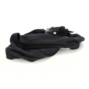 Černá šála s motivem sobů