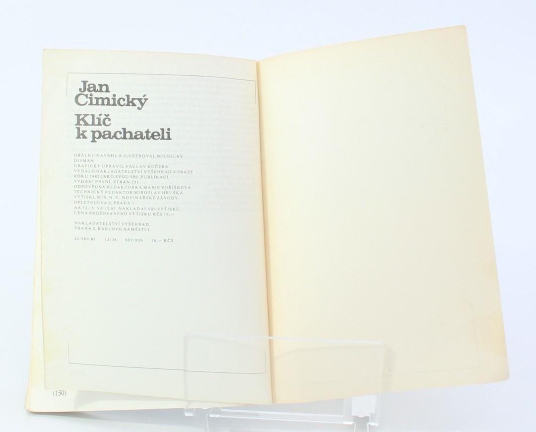 Kniha Jan Cimický: Klíč k pachateli