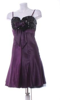 Dámské elegantní šaty Carina fialové