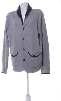 Pánský kabát Selected Homme šedý na knoflíky