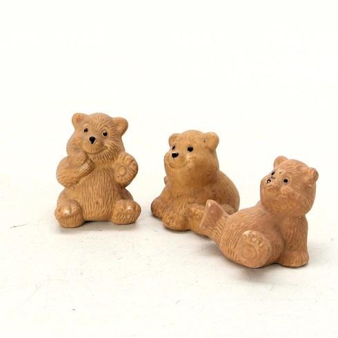 Keramická dekorace 3 medvědi