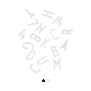 Písmena Design Letters, 159 ks, bílá