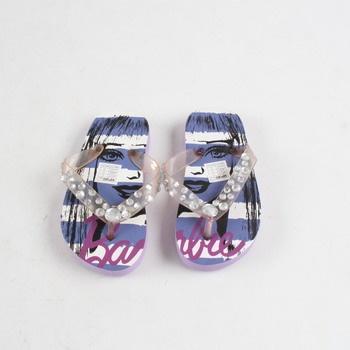 Dětská obuv žabky barevné Barbie