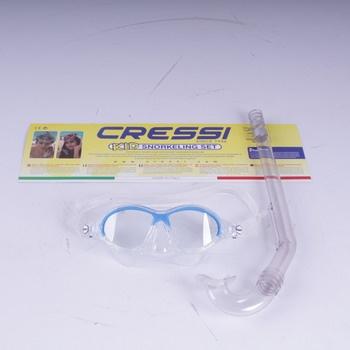 Potápěčský set Cressi Moon kid modrý