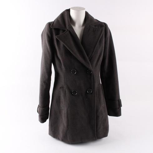 Dámský kabát Flame tmavě hnědý - bazar  5a5339a2a7a
