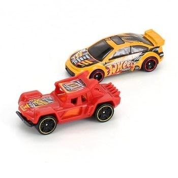 Autíčka Hot Wheels 2ks žluté a červené