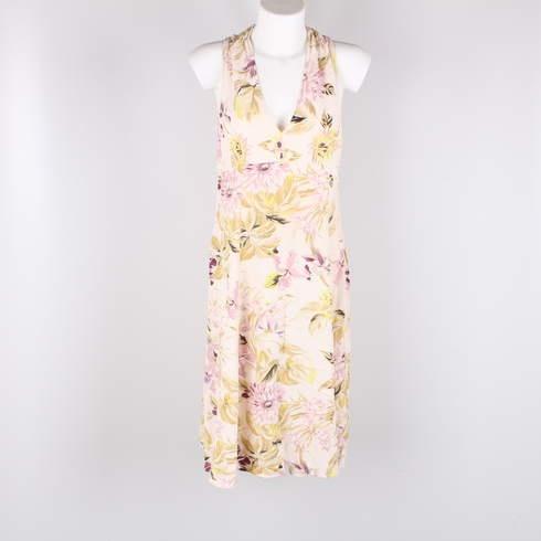 54cdbd1c64f Dámské šaty odstín světle růžové s květy - bazar