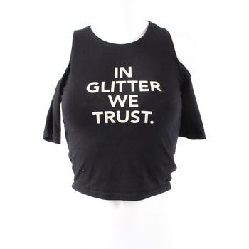 dfa2c36402e Dámské tričko Tally Weijl černé s nápisem