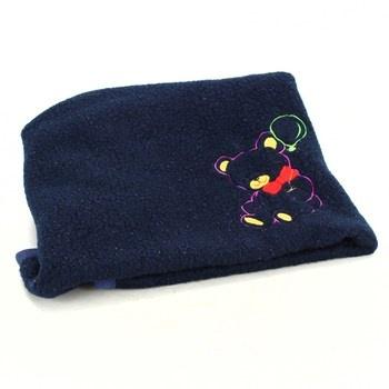Dětská deka modrá s medvídkem