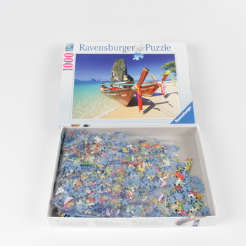 Puzzle Ravensburger loď se skálou