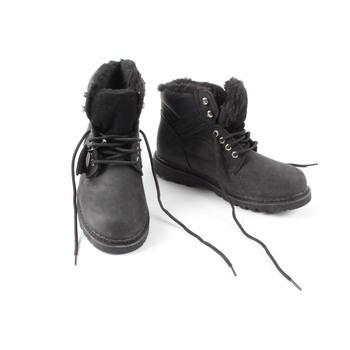 Pánská zimní obuv s kožichem černá 4fcdfeed42