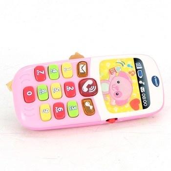 Telefon pro nejmenší Vtech růžový