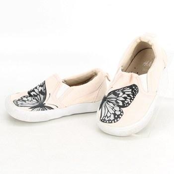 Dívčí capáčky H&M s motýlem