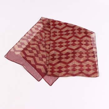 Dámský šátek červený se vzorem ead546985f