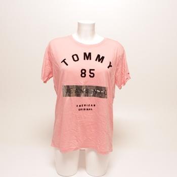 Dámské tričko Tommy Jeans růžové M