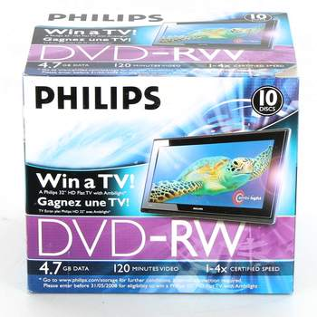 DVD-RW Philips 4,7 GB / 120 min