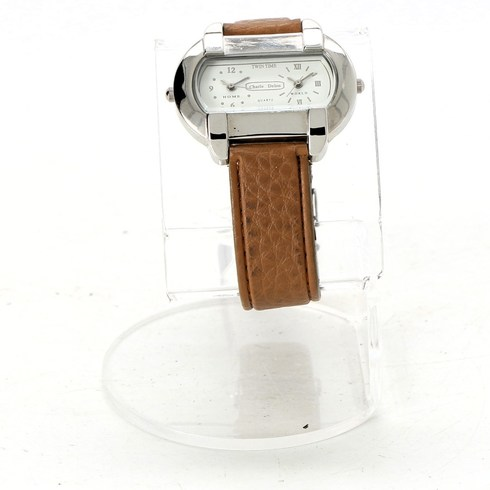 Dámské hodinky Charles Delon Twin time hnědé - bazar  55f087cd8b