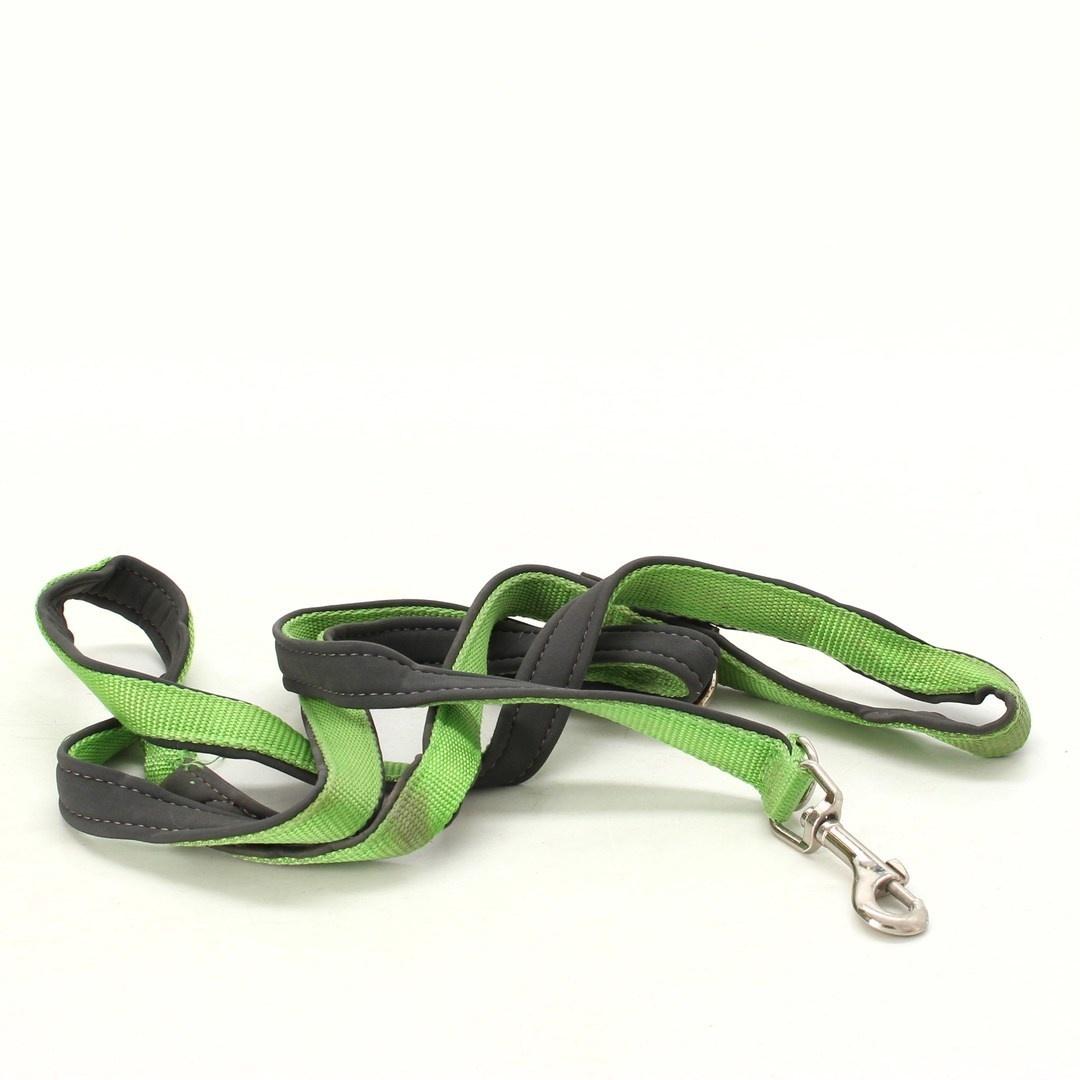 Vodítko pro psa zeleno/šedé