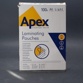 Laminovací fólie A4 Apex 100ks