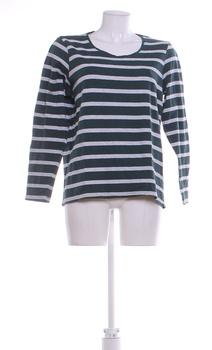 Dámské triko Janina proužkované zeleno-šedé