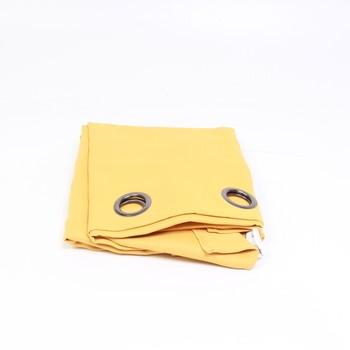 Závěs s oky Lovely Casa žlutý