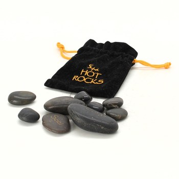 Lávové kameny Spa hot rocks v černém obalu