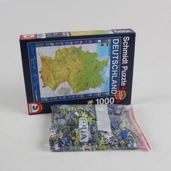 Puzzle 1000 dílků mapa Německa Schmidt