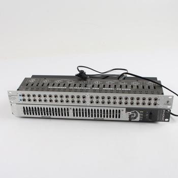 Equalizér Phonic MQ3400 a patchbay PX2000