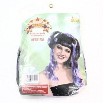 Karnevalová paruka MaDe fialovo-černá