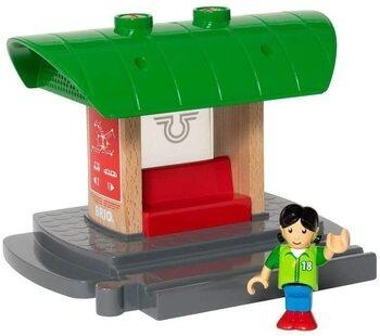 Model drážní budovy Brio - zaznamenání hlasu