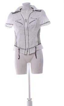 Dámská košile Elegance na zip bílá