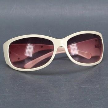 Dámské sluneční brýle s bílými obroučky