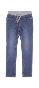 Dětské džíny modré zavazovací