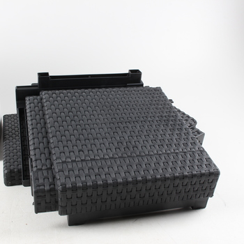 Taburet Allibert Cube černý