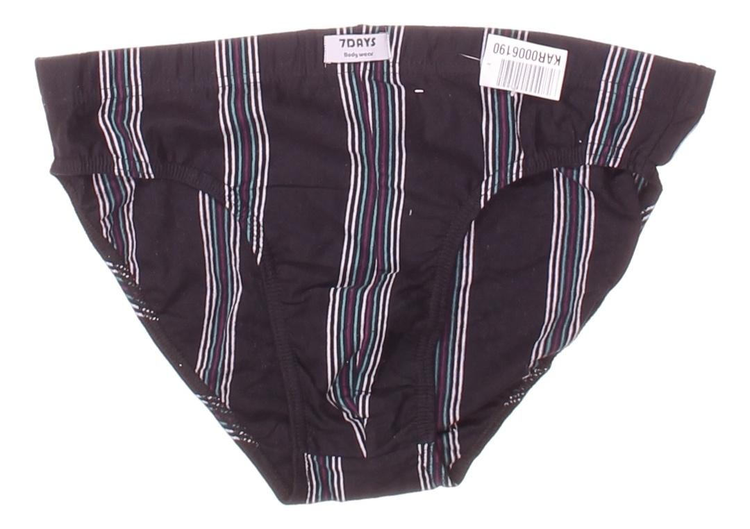 Pánské slipy 7Days Bodywear černé s pruhy