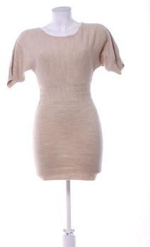 Dámské krátké úpletové šaty Orsay béžové