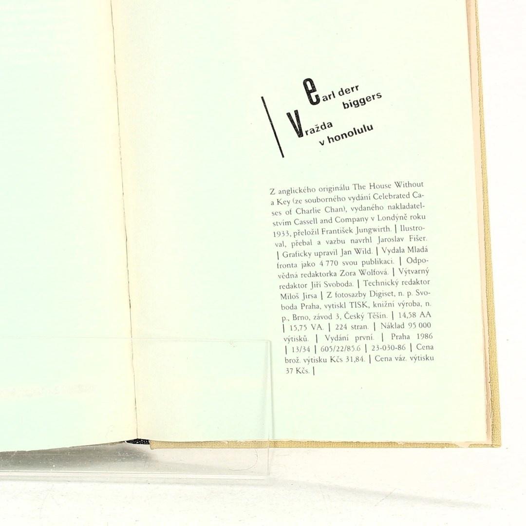 Kniha Earl Derr Biggers: Vražda v Honolulu
