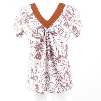 45c381359962 Dámské tričko Wherenear béžovo-bílé