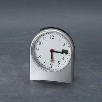 Analogový budík TFA 98.1040 stříbrný
