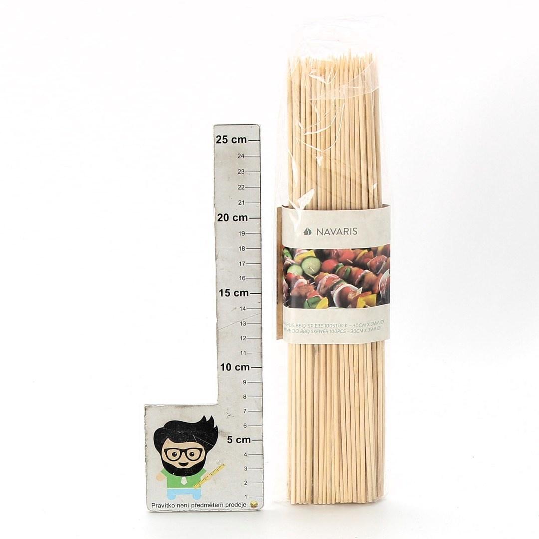 Bambusové špejle Navaris 100 ks