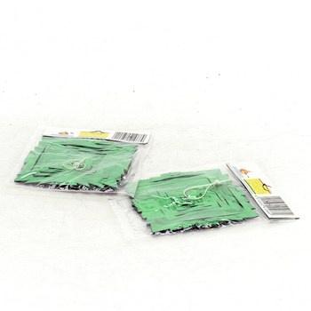 PVC dekorace zelená a fialová