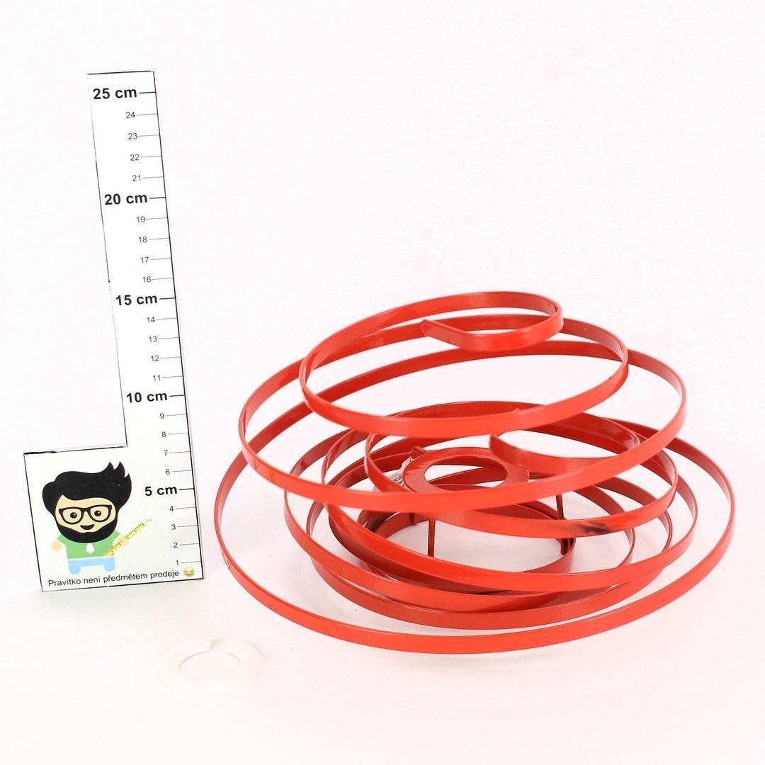 Stínidlo ve tvaru spirály Bulb Type červené