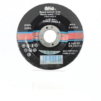 Řezný kotouč Mago 115 x 2,2 x 22,2 na ocel