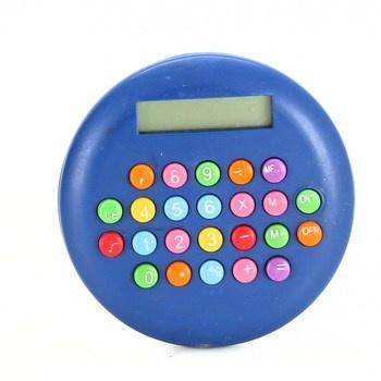 Školní kalkulačka kulatá modrá