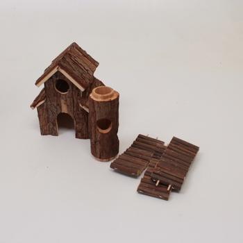 Dřevěný domek s prolézačkou Trixie 6163