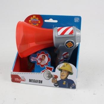 Megafon Simba Hasič Sam červeno-šedý