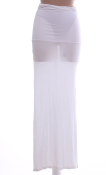 Dámská dlouhá sukně p2 bílá