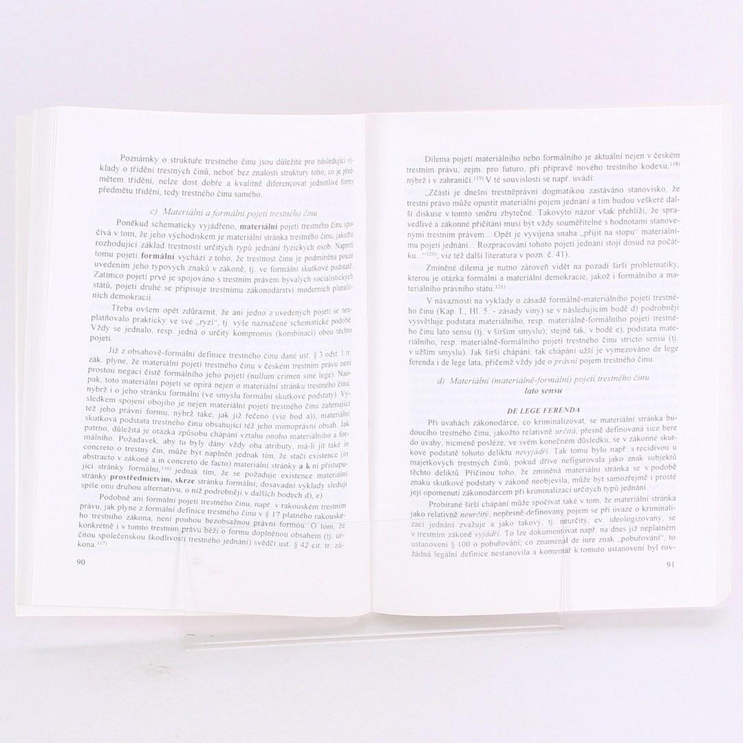 Kniha Trestní právo hmotné