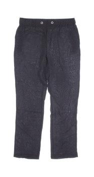 Dámské plátěné kalhoty Janina bílý puntík