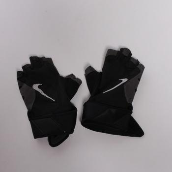 Cyklistické rukavice Nike šedočerné
